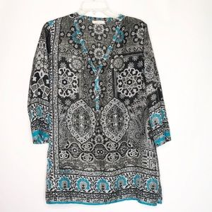 Johnny Was printed Tunic Blouse - Size M